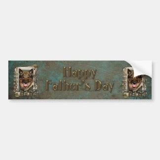 Fathers Day - Stone Paws - Vallhund - Dad Car Bumper Sticker