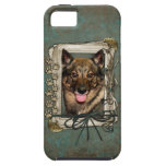 Fathers Day - Stone Paws - Vallhund iPhone 5 Cases