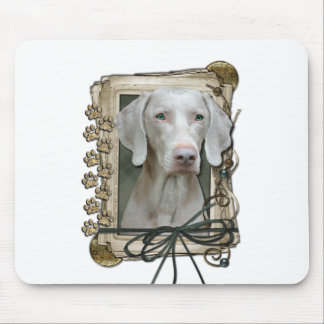 Fathers Day - Stone Paws - Weimaraner Mouse Pad