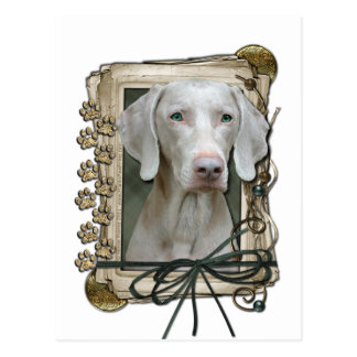 Fathers Day - Stone Paws - Weimaraner Postcard
