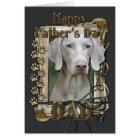 Fathers Day - Stone Paws - Weimeraner Card