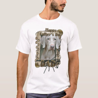 Fathers Day - Stone Paws - Weimeraner - Dad T-Shirt