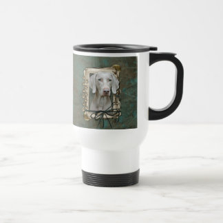 Fathers Day - Stone Paws - Weimeraner Coffee Mugs