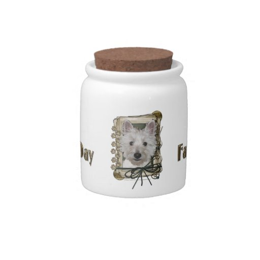 Fathers Day - Stone Paws - West Highland Terrier Candy Dishes