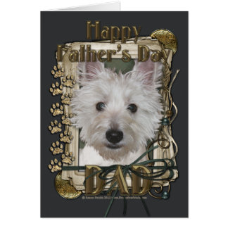 Fathers Day - Stone Paws - West Highland Terrier Greeting Cards