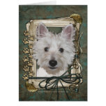 Fathers Day - Stone Paws - West Highland Terrier Greeting Card