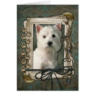 Fathers Day - Stone Paws - West Highland Terrier Card