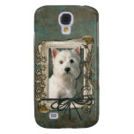 Fathers Day - Stone Paws - West Highland Terrier Samsung Galaxy S4 Case
