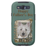 Fathers Day - Stone Paws - West Highland Terrier Samsung Galaxy SIII Covers