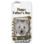 Fathers Day - Stone Paws - West Highland Terrier iPhone 5 Case