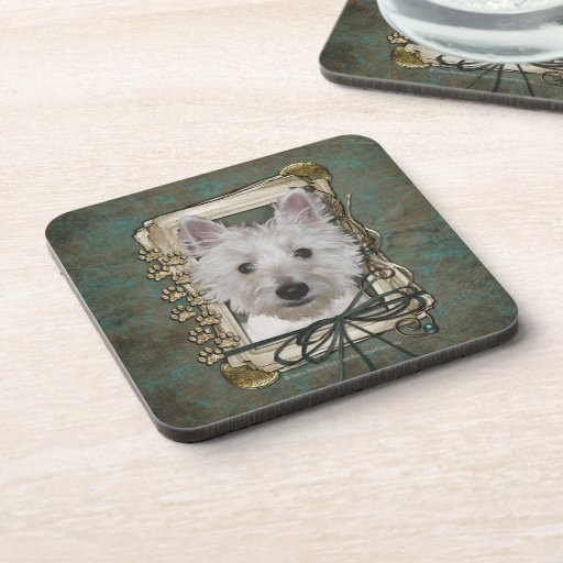 Fathers Day - Stone Paws - West Highland Terrier Drink Coasters