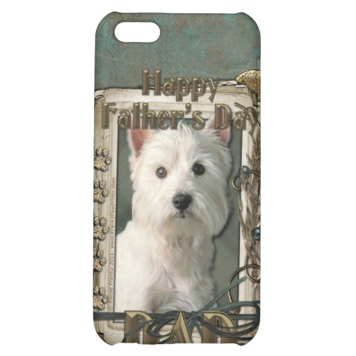 Fathers Day - Stone Paws West Highland Terrier Dad Case For iPhone 5C
