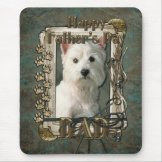 Fathers Day - Stone Paws West Highland Terrier Dad Mouse Pad
