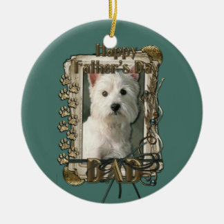 Fathers Day - Stone Paws West Highland Terrier Dad Ornament