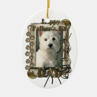 Fathers Day - Stone Paws West Highland Terrier Dad Christmas Tree Ornaments