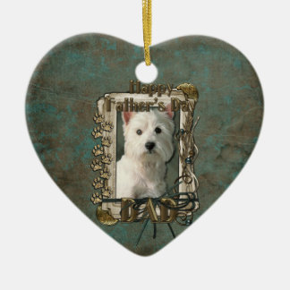 Fathers Day - Stone Paws West Highland Terrier Dad Christmas Tree Ornament
