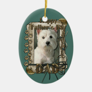 Fathers Day - Stone Paws West Highland Terrier Dad Christmas Ornament