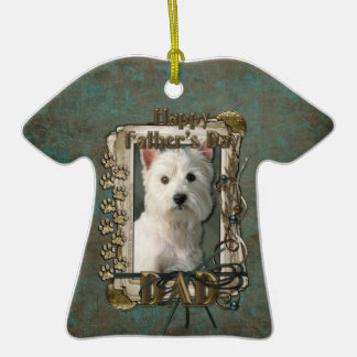 Fathers Day - Stone Paws West Highland Terrier Dad Christmas Ornaments