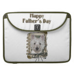 Fathers Day - Stone Paws - West Highland Terrier MacBook Pro Sleeves