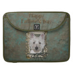 Fathers Day - Stone Paws - West Highland Terrier Sleeve For MacBook Pro