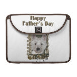 Fathers Day - Stone Paws - West Highland Terrier Sleeves For MacBooks