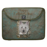 Fathers Day - Stone Paws - West Highland Terrier Sleeve For MacBooks