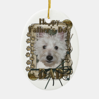 Fathers Day - Stone Paws - West Highland Terrier Ornament