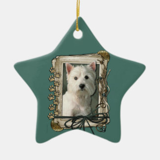 Fathers Day - Stone Paws - West Highland Terrier Christmas Ornaments