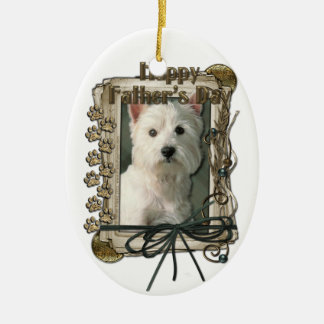 Fathers Day - Stone Paws - West Highland Terrier Christmas Ornament
