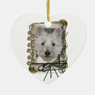 Fathers Day - Stone Paws - West Highland Terrier Christmas Tree Ornament