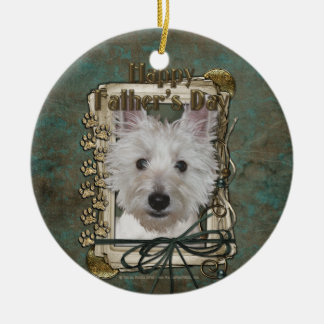 Fathers Day - Stone Paws - West Highland Terrier Christmas Tree Ornaments