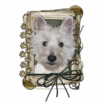 Fathers Day - Stone Paws - West Highland Terrier Photo Sculpture