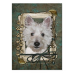 Fathers Day - Stone Paws - West Highland Terrier Postcard