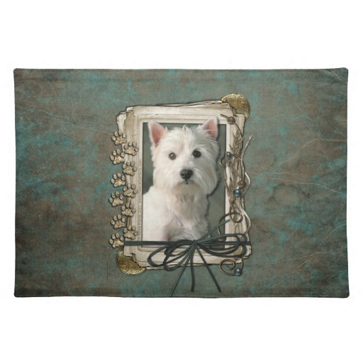 Fathers Day - Stone Paws - Westie Placemat