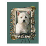 Fathers Day - Stone Paws - Westie Post Cards