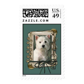 Fathers Day - Stone Paws - Westie Stamps
