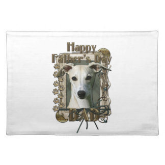 Fathers Day - Stone Paws - Whippet Cloth Placemat