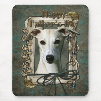 Fathers Day - Stone Paws - Whippet Mouse Pad