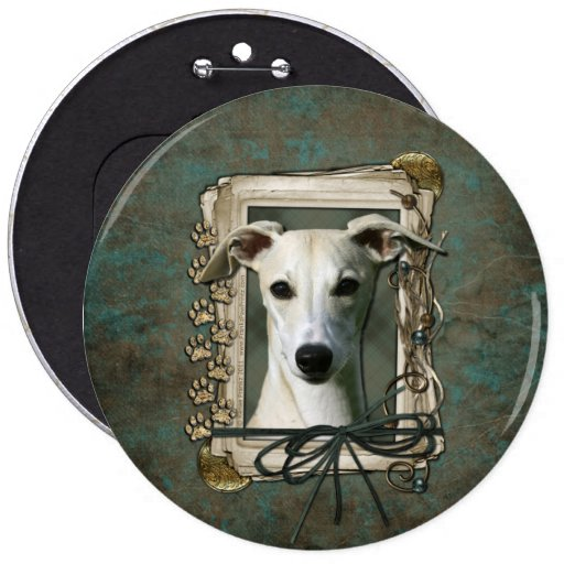 Fathers Day - Stone Paws - Whippet Pinback Button