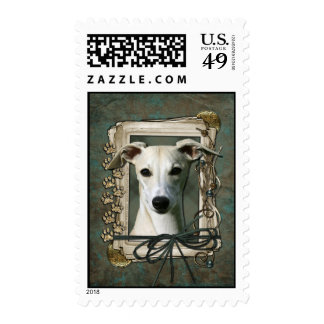 Fathers Day - Stone Paws - Whippet Postage Stamps