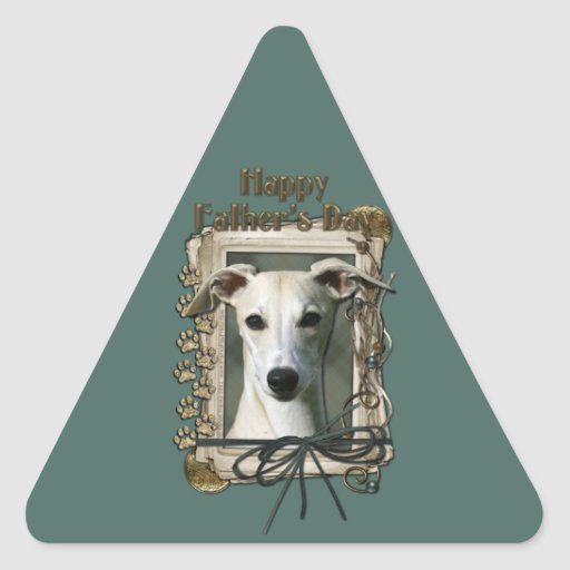 Fathers Day - Stone Paws - Whippet Triangle Sticker