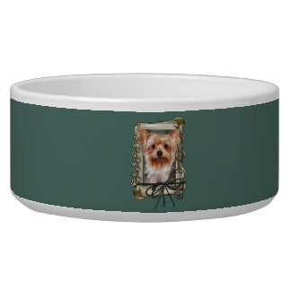 Fathers Day - Stone Paws - Yorkshire Terrier Bowl