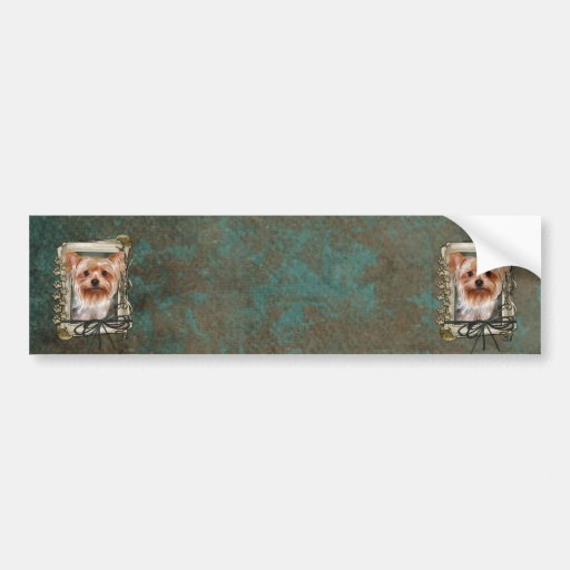Fathers Day - Stone Paws - Yorkshire Terrier Bumper Stickers