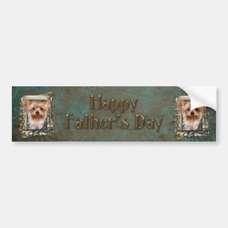 Fathers Day - Stone Paws - Yorkshire Terrier Car Bumper Sticker