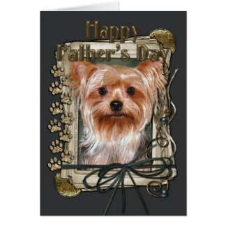 Fathers Day - Stone Paws - Yorkshire Terrier Card