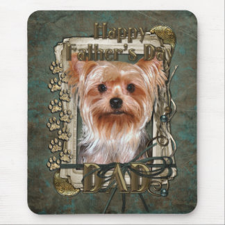 Fathers Day - Stone Paws - Yorkshire Terrier Dad Mouse Pad