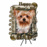Fathers Day - Stone Paws - Yorkshire Terrier Dad Photo Cut Out