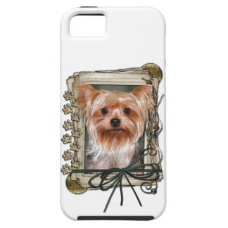 Fathers Day - Stone Paws - Yorkshire Terrier iPhone SE/5/5s Case