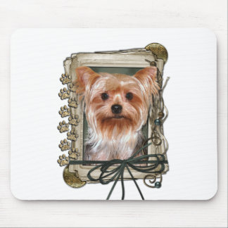 Fathers Day - Stone Paws - Yorkshire Terrier Mouse Pad