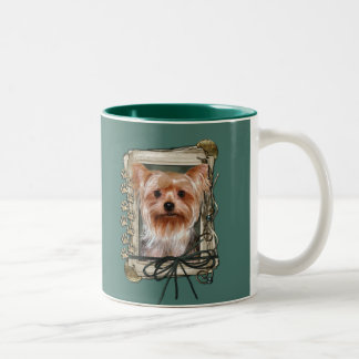 Fathers Day - Stone Paws - Yorkshire Terrier Two-Tone Coffee Mug